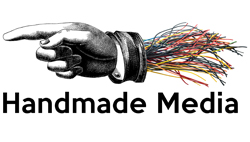 Handmade-media.co.uk logo. Digital video, design for print and the web. North West England, Lancashire.